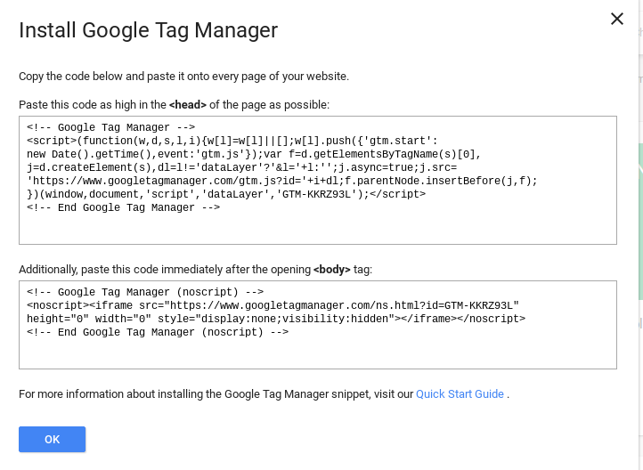 0002Install Google Tag Manager