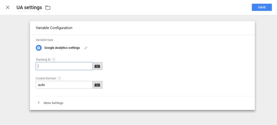 0010 Google Analytics tracking ID