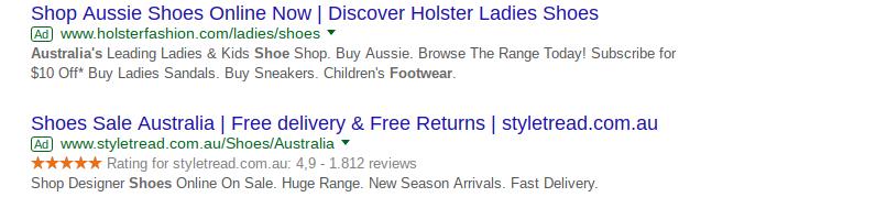 Paid shoes google ads