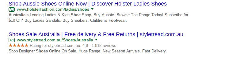 Paid shoes google ads