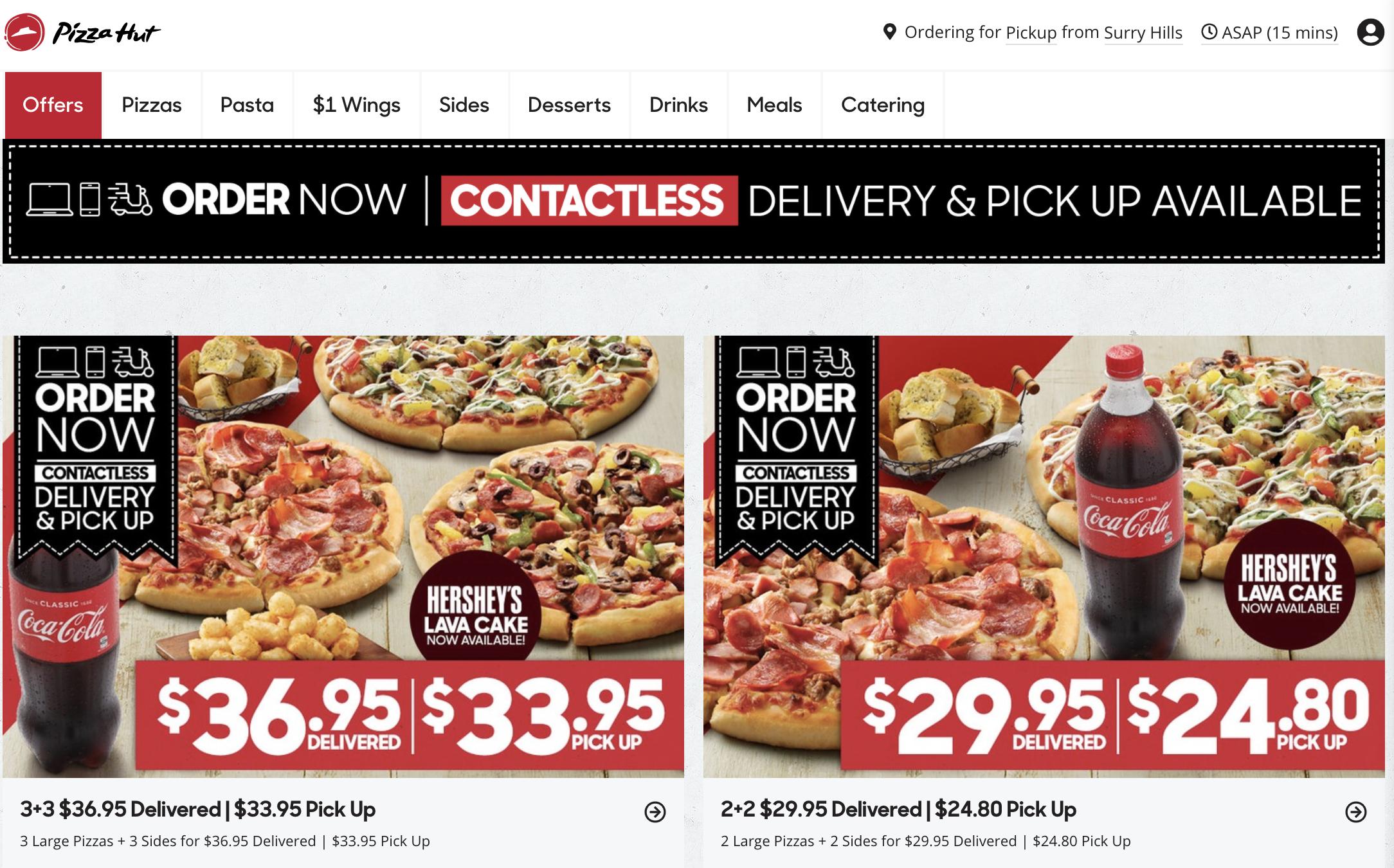 pizzahutcontactlessdelivery