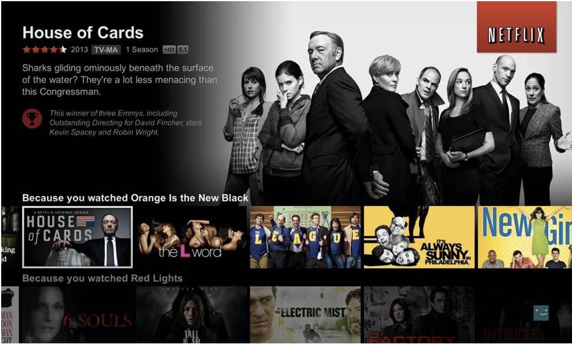 Netflix Personalised marketing
